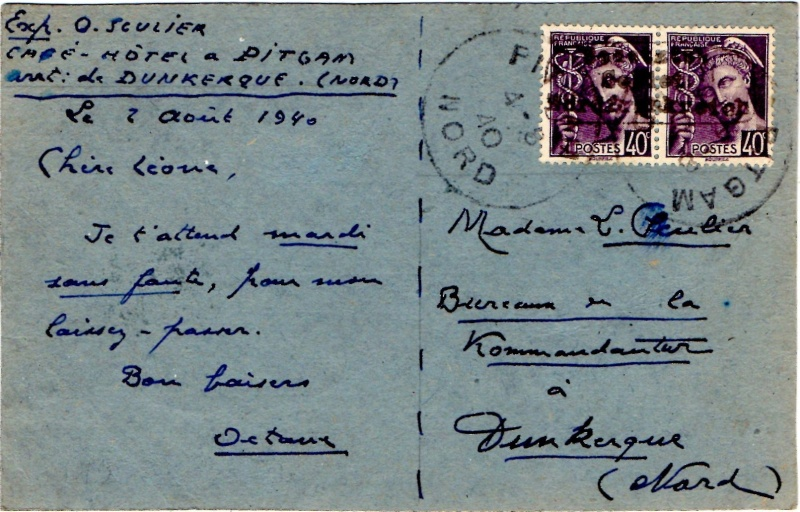 Tarif des cartes postales pendant la Deuxième Guerre mondiale 1940_p10