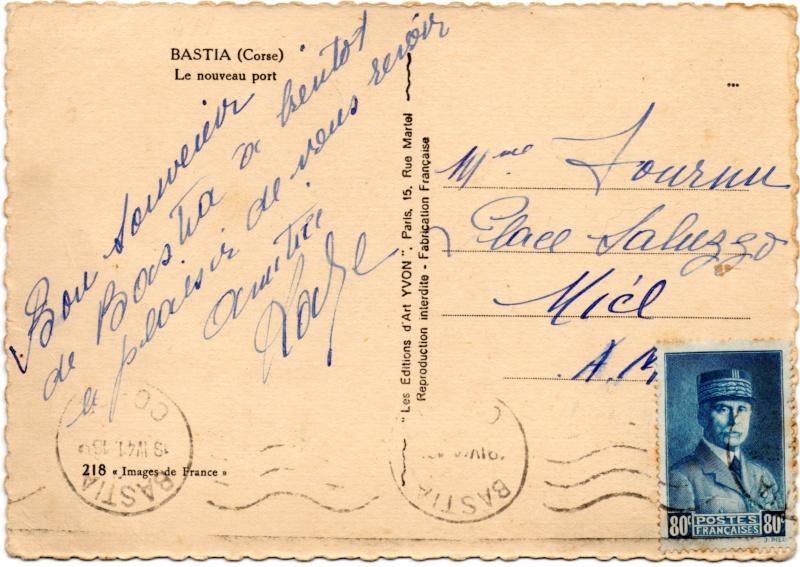 Tarif des cartes postales pendant la Deuxième Guerre mondiale 1941_c10