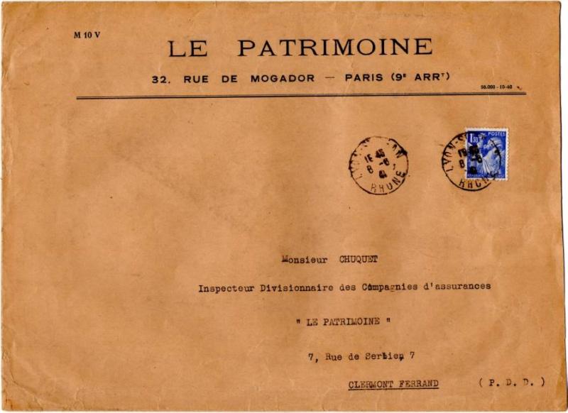 Tarif des lettres pendant la Deuxième Guerre mondiale 1941_i10