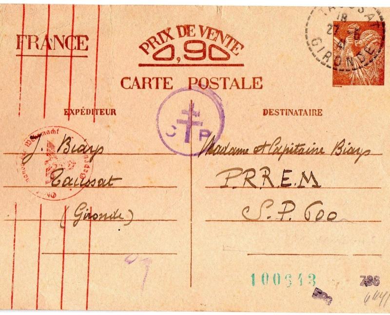 Tarif des cartes postales pendant la Deuxième Guerre mondiale 1941_l10