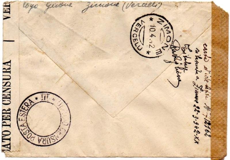 """Cachet """" P.S.S.D."""" sur lettre de Ljubljana ( Slovénie ) 1944. 1942_c11"""