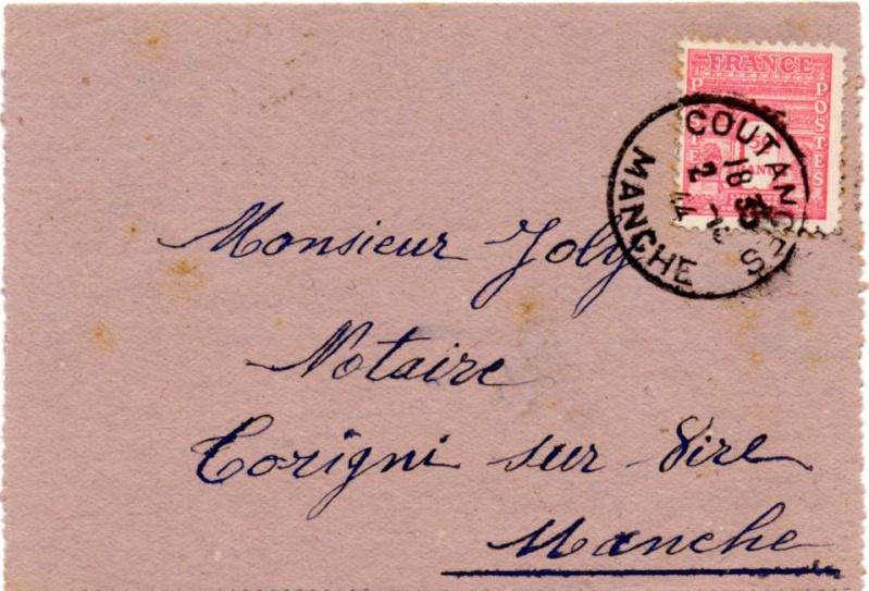 Tarif des lettres pendant la Deuxième Guerre mondiale 1944_a10