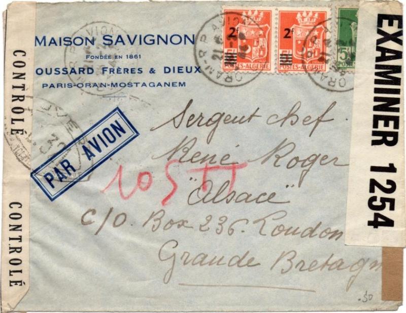 Adresse de liaison / Undercover addresse connue P.O. 260. 1944_p10