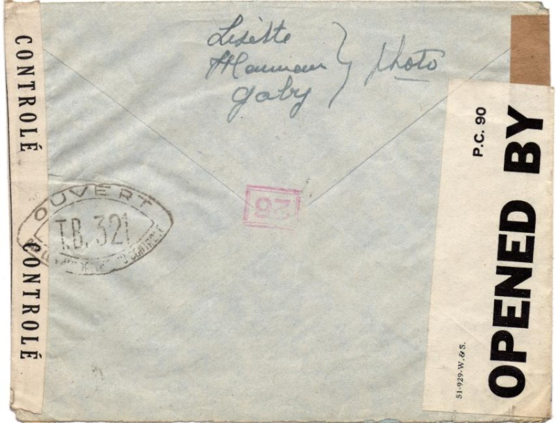 Adresse de liaison / Undercover addresse connue P.O. 260. 1944_p11