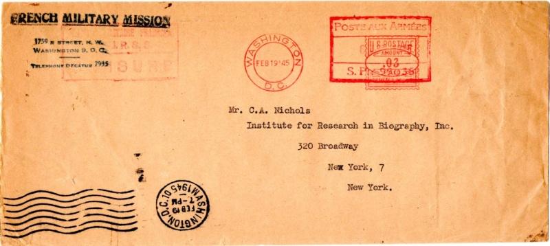Lettre adressée à la Mission Militaire Française. 1945_m11