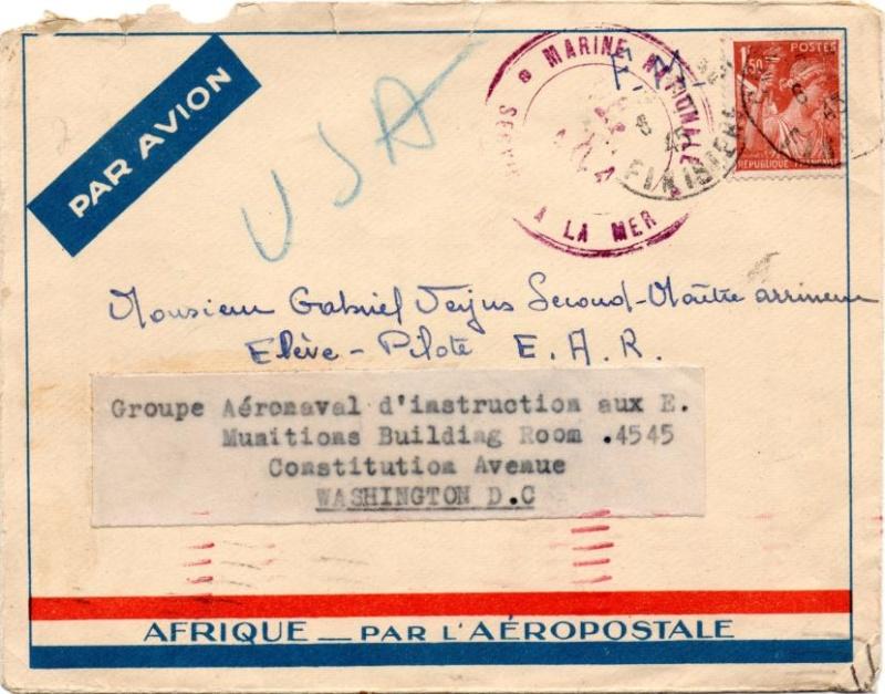 Lettre adressée à la Mission Militaire Française. 1945_n10