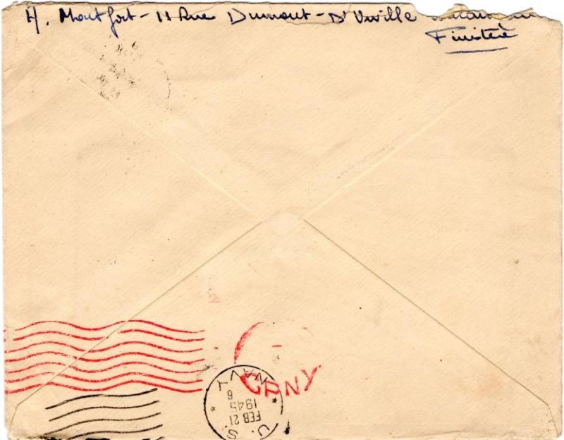 Lettre adressée à la Mission Militaire Française. 1945_n11