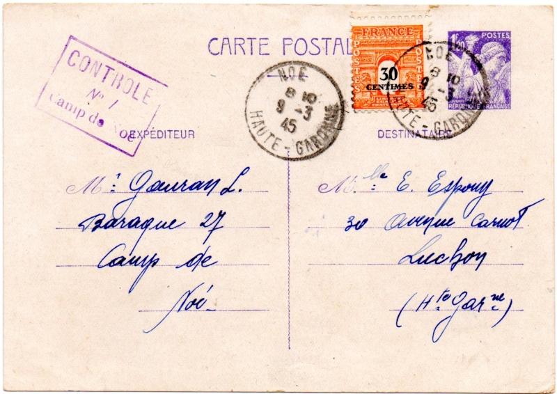 Tarif des cartes postales pendant la Deuxième Guerre mondiale 1945_n14