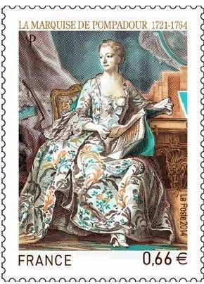 La Pompadour : un timbre en vente  Le_tim10