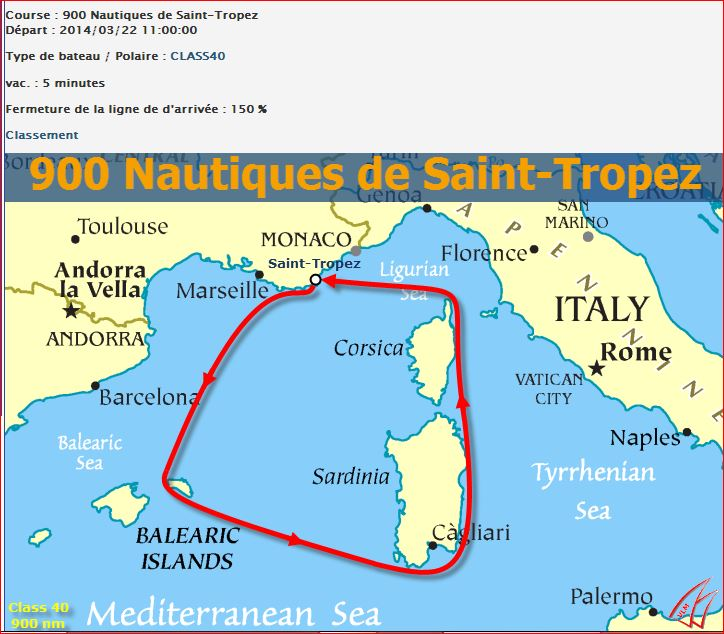 VLM....900 nautiques de Saint-Tropez St10