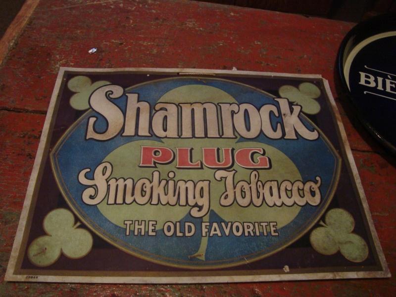 affiche en carton shamrock tobacco 00210
