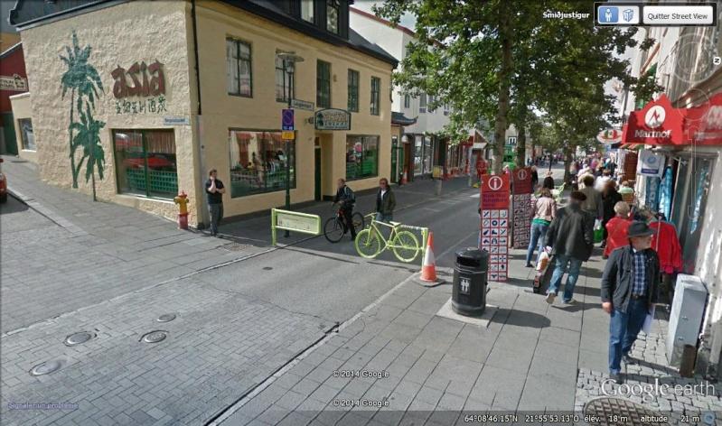 STREET VIEW : vélo Barrière, Reykjavík - Islande Hh10
