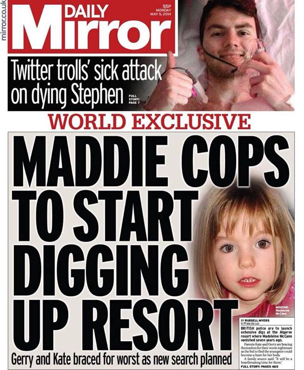 """Maddie cops to start digging at resort"" Dig10"