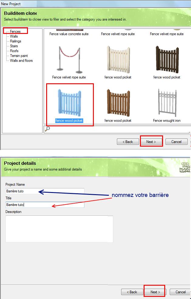 [Débutant] TSRW - Créer une clôture personnalisée 1110