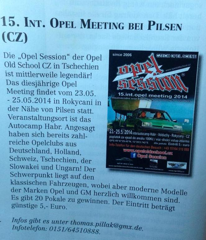 15. OPEL SESSION 2014 - Int. OPEL MEETING 23. - 25. 5. 2014 10154410