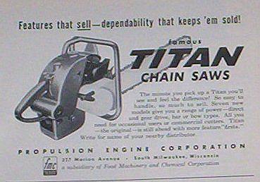 titan chainsaws 610