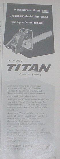titan chainsaws 710