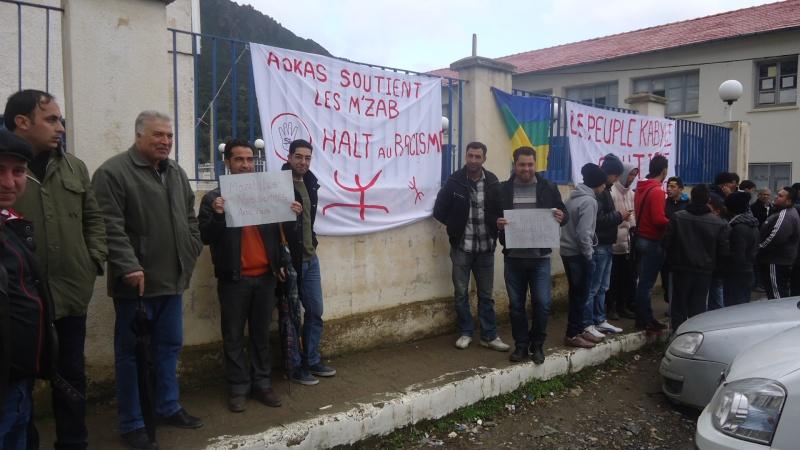MOZABITES - Rassemblement de solidarité avec les mozabites à Aokas le mardi 11 fevrier 2014 (6) Dsc00416