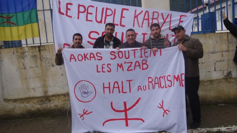 MOZABITES - Rassemblement de solidarité avec les mozabites à Aokas le mardi 11 fevrier 2014 (6) Dsc00417
