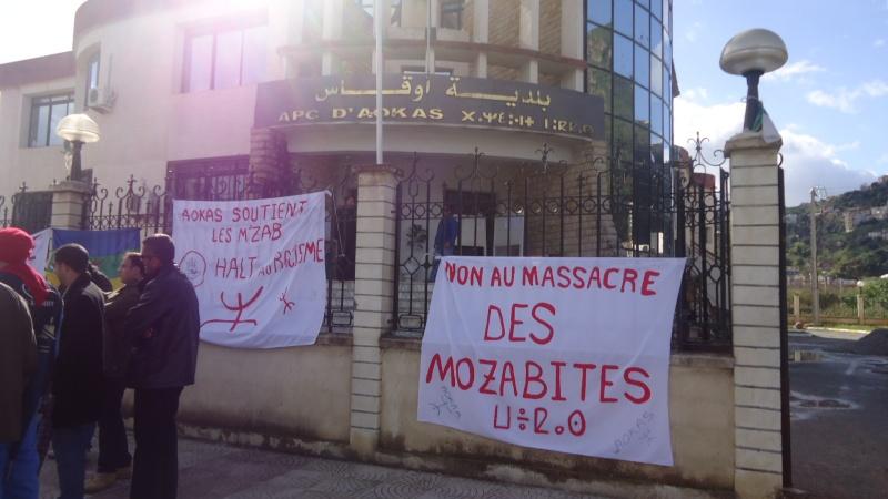 MOZABITES - Rassemblement de solidarité avec les mozabites à Aokas le mardi 11 fevrier 2014 (6) Dsc00426