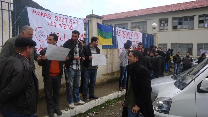 MOZABITES - Rassemblement de solidarité avec les mozabites à Aokas le mardi 11 fevrier 2014 (6) Dsc00428
