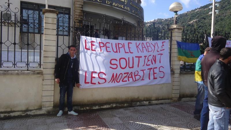 MOZABITES - Rassemblement de solidarité avec les mozabites à Aokas le mardi 11 fevrier 2014 (6) Dsc00510