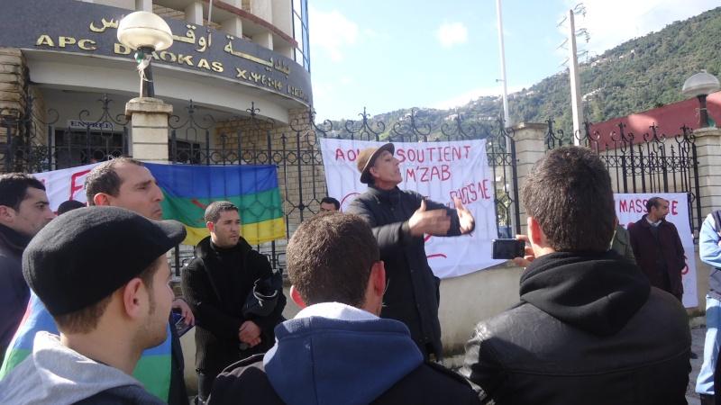 MOZABITES - Rassemblement de solidarité avec les mozabites à Aokas le mardi 11 fevrier 2014 (6) Dsc00513