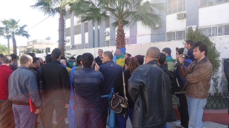 Rassemblement de soutien aux Mozabites devant le siège de la wilaya de Bgayet(Février 2014). Dsc00537