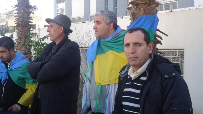 Rassemblement de soutien aux Mozabites devant le siège de la wilaya de Bgayet(Février 2014). Dsc00539