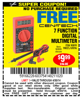 Harbor Freight Free Coupons