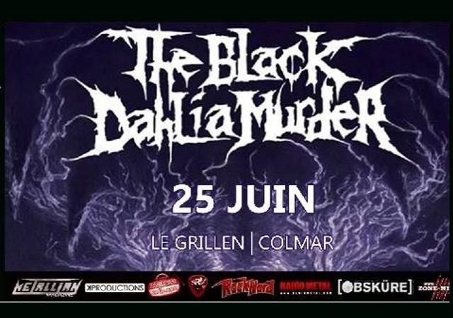 """THE BLACK DAHLIA MURDER  Le 25 Juin 2014 """"Le GRILLEN""""  Colmar Sepul11"""
