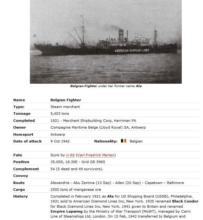 Navires marchands belges coulés lors de la 2ème guerre - Page 3 Belgia10