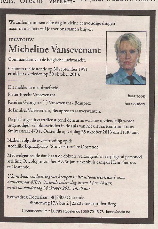 Décès de Van Sevenant Micheline Image10