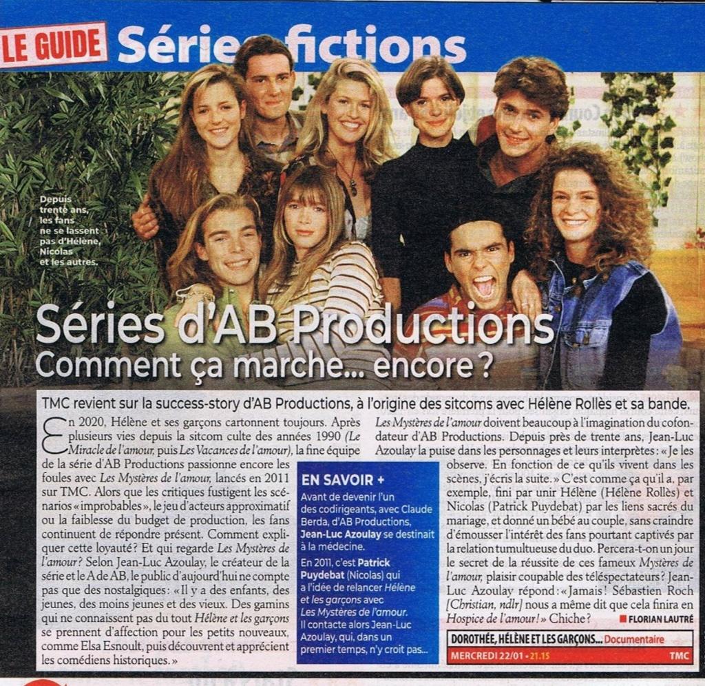 Génération AB Productions, le mercredi 22 janvier sur TMC 83190310