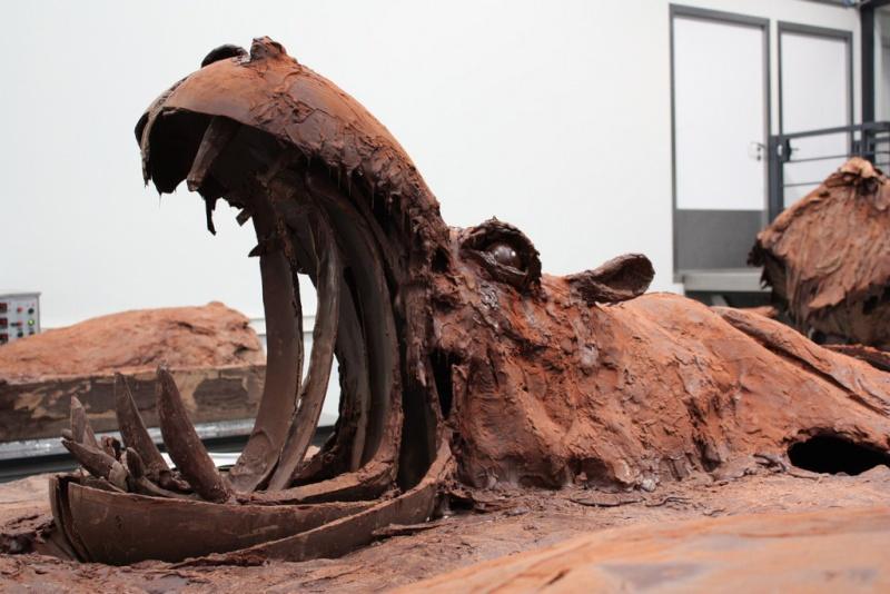 sculptures de chocolat Chocol11