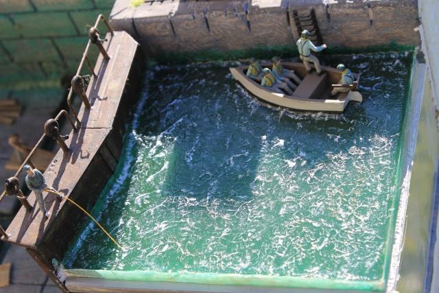 diorama u boot u 505 en cale seche 21010
