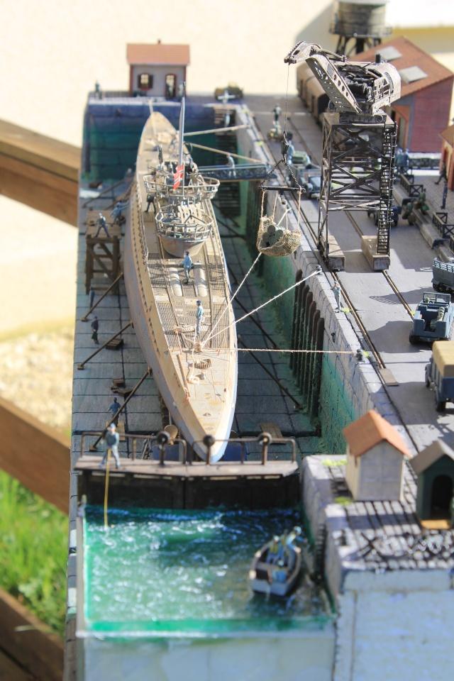 diorama u boot u 505 en cale seche 21210