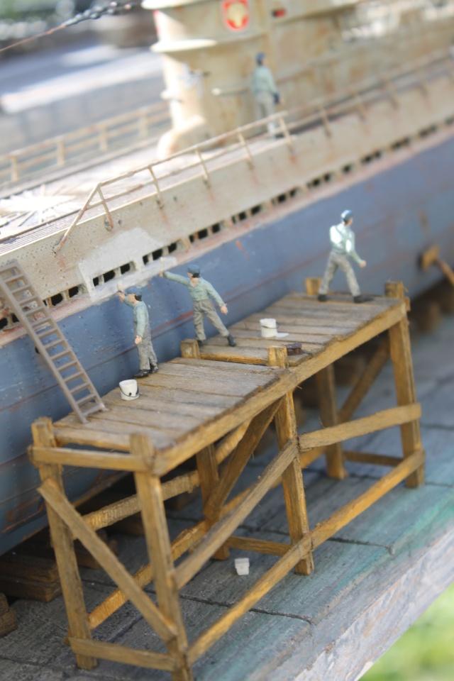 diorama u boot u 505 en cale seche 22010