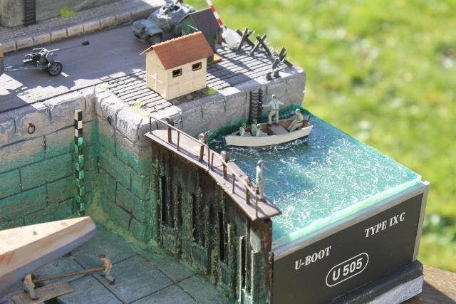 diorama u boot u 505 en cale seche 23410