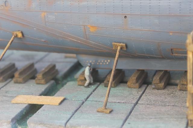 diorama u boot u 505 en cale seche 24110