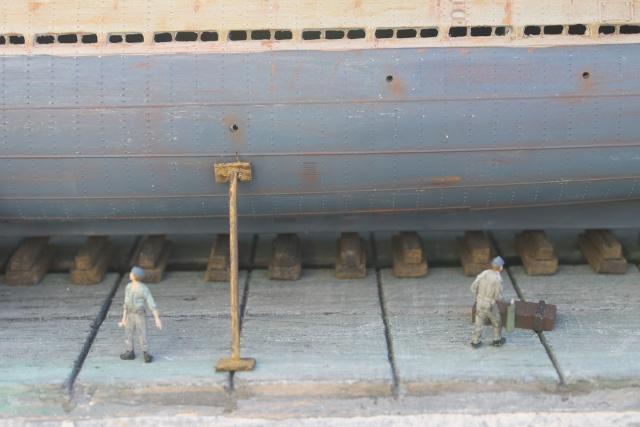 diorama u boot u 505 en cale seche 24210