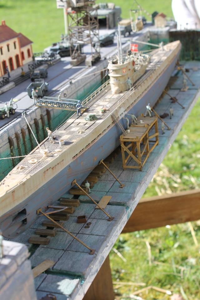 diorama u boot u 505 en cale seche 24310
