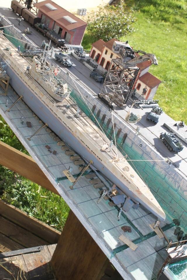 diorama u boot u 505 en cale seche 24510