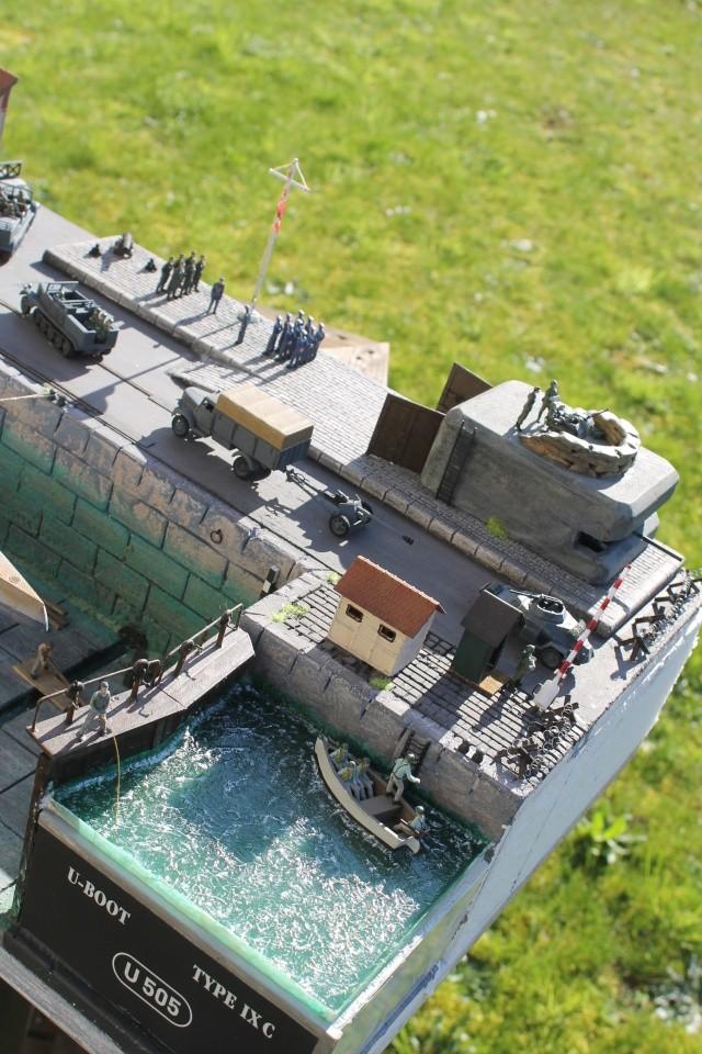 diorama u boot u 505 en cale seche 24610