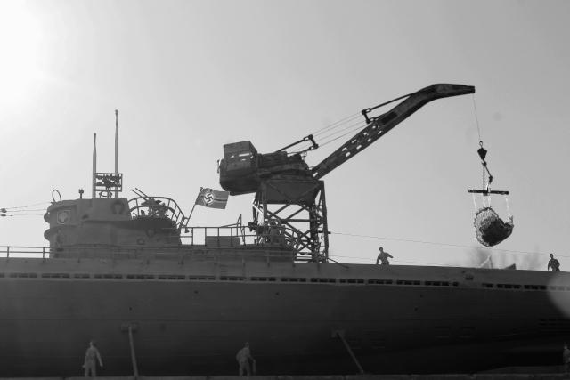 diorama u boot u 505 en cale seche 24710