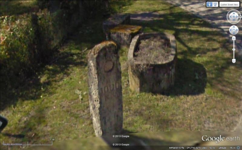 La borne des 1000km de Saint Jacques de Compostelle - Retjons - France Stjc10