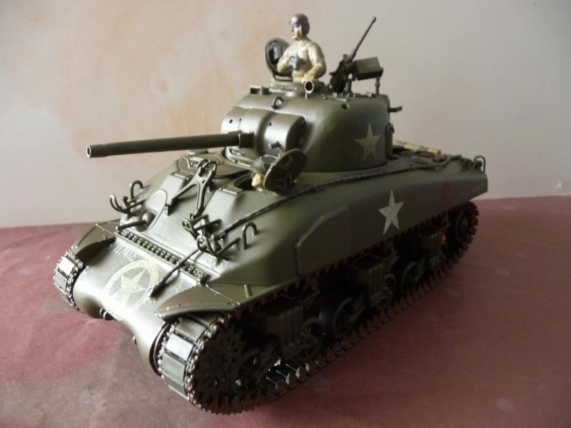 SHERMAN M4A1 canon de 75mm  - U.S.A. 1/35 Italeri + Tamiya P1050213