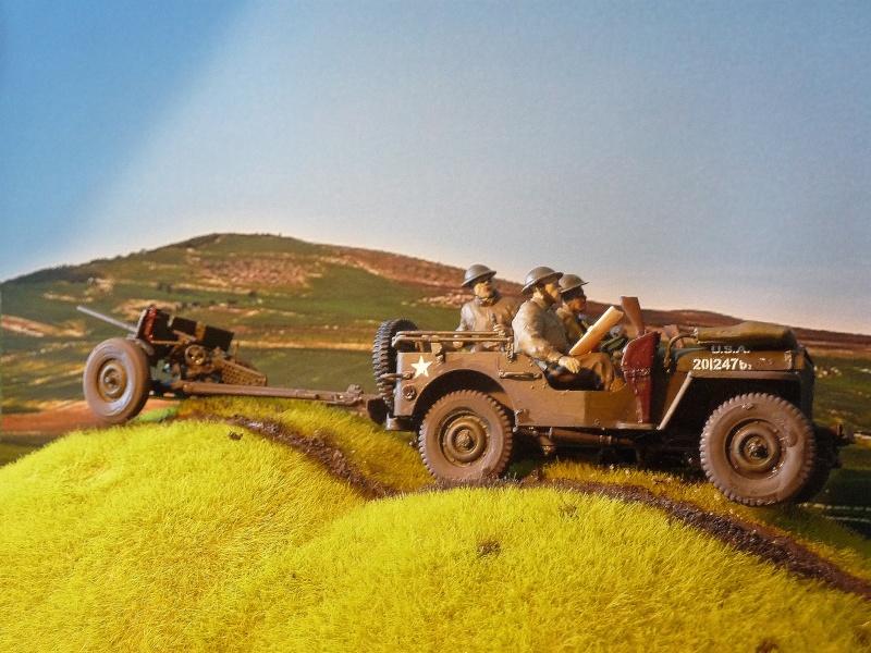 BRONCO - JEEP US 1/4 TON FORD modèle 1942 canon 37mm  anti chars M3A1 P1050414