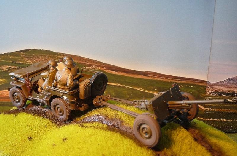 BRONCO - JEEP US 1/4 TON FORD modèle 1942 canon 37mm  anti chars M3A1 P1050418