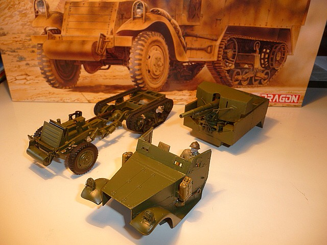M 3 canon 75mm GUN MOTOR CARRIAGE  ( 2 )  DRAGON 1/35éme  P1050530